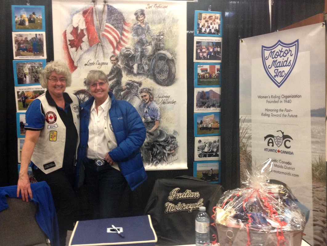 The winner of the gift basket in Moncton was Tammy V. who lives in New Horton NB and owns a Harley Sportster. The Halifax winner was Kim C.